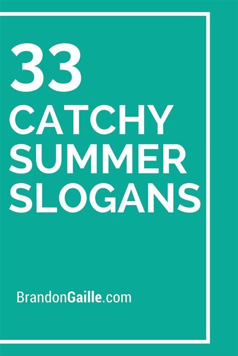 List Of 33 Catchy Summer Slogans And Taglines Slogan