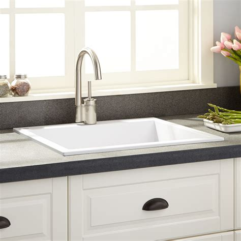 holcomb drop  granite composite sink cloud white