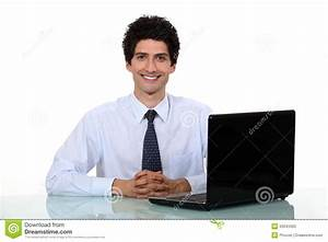Happy Office Worker Stock Photo - Image: 33943460