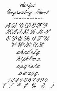 engraved door knocker script font