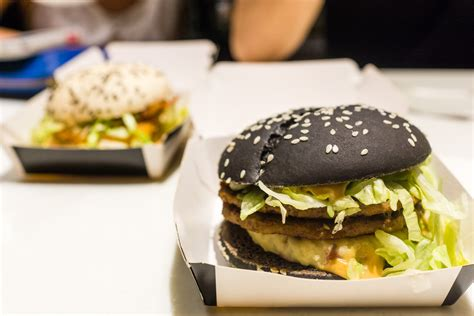 mcdonalds cray black white burger  food cray