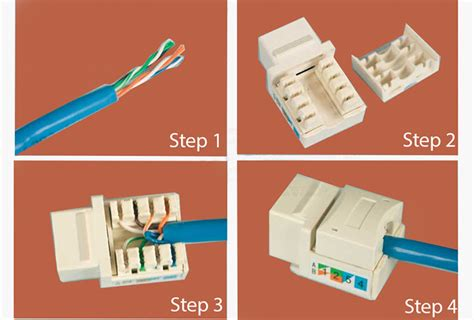 Ethernet Keystone Wiring by Rj45 Cat5e Cat6 Ethernet Punch Cable Connectors