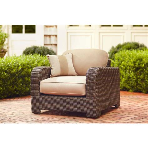 brown northshore patio lounge chair with harvest
