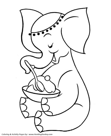 pre k coloring pages free printable elephant pre k