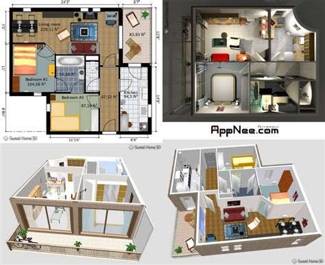 Home Interior 3d Design Software : Sweet Home 3d Free Home Design Software 1