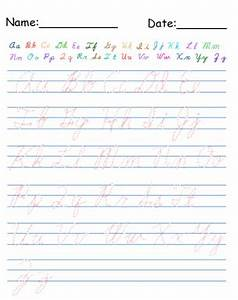 Printable Cursive Alphabet Worksheets | Search Results ...