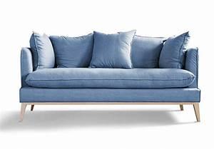 Canapé Scandinave Bleu : 50 id es d co de canap ~ Teatrodelosmanantiales.com Idées de Décoration