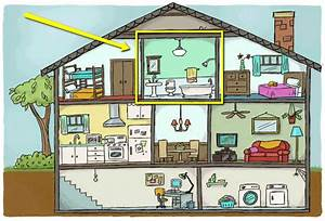 Interior clipart inside house - Pencil and in color ...