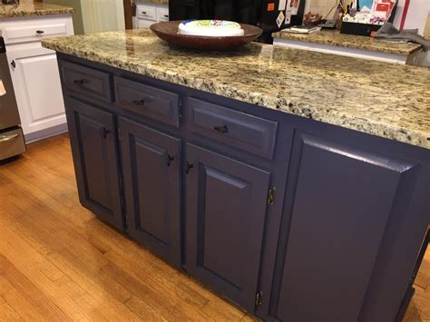 Gray Cloud cabinets & Sherwin Williams Caviar island   2