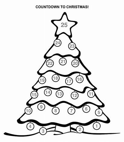 Christmas Countdown Printable Calendar Coloring Printablee
