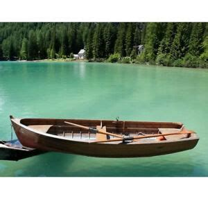 wooden rowboat ebay