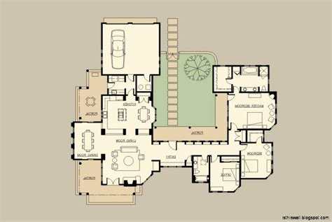 style house plans with interior courtyard hacienda style home plans inspirational modern courtyard