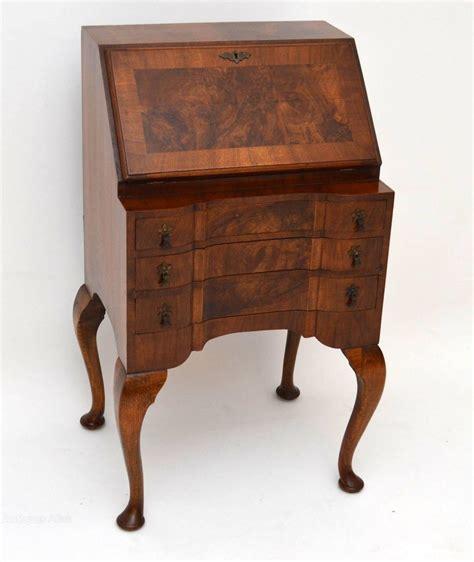 Antique Burr Walnut Writing Bureau  Antiques Atlas