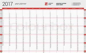 yearly wall calendar planner template for 2017 year With yearly financial planner template