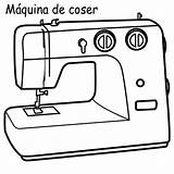 Sewing Coloring Machine Maquina Coser Para Colorear sketch template
