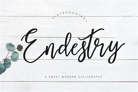 endestry modern calligraphy font creativetacos