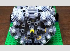 This Functional Lego 28 Cylinder Radial Engine Will