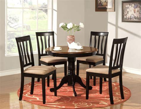 antique black kitchen table 5 pc antique dinette kitchen table set black brown