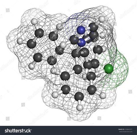 Clotrimazole Antifungal Drug Molecule Used Treatment Stock