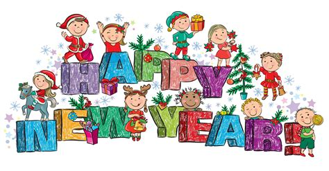 Wallpaper Happy New Year, Children, Gift, Christmas Tree