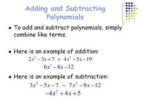 Polynomials Unit 3 Lessons 12