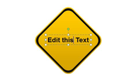 caution sign template drawing a yellow warning sign and cool shapes in powerpoint