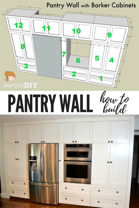 kitchen wall pantry cabinet how to build a pantry wall with barker cabinets 6433