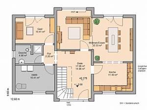 Haus Grundriss Ideen Einfamilienhaus : kern haus familienhaus aura grundriss erdgeschoss ~ Lizthompson.info Haus und Dekorationen
