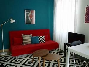 Tapis Salon Bleu Canard : imprim s et motifs dans la d co 10 ambiances r ussies c t maison ~ Melissatoandfro.com Idées de Décoration