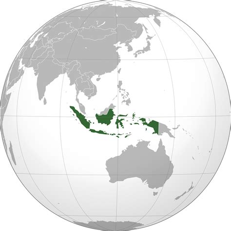 indonesia map  globe