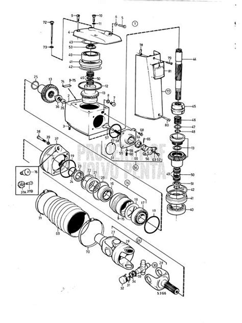 volvo penta exploded view schematic upper gear unit aq