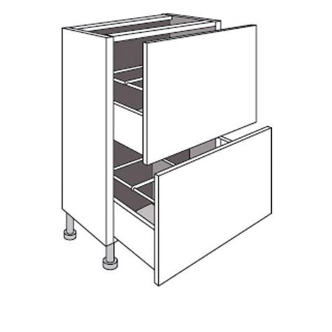 meuble bas cuisine 37 cm profondeur meuble de cuisine bas faible profondeur 2 tiroirs lumio