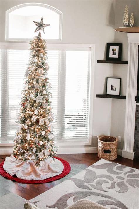 stunning slim christmas tree decorating ideas christmas celebration