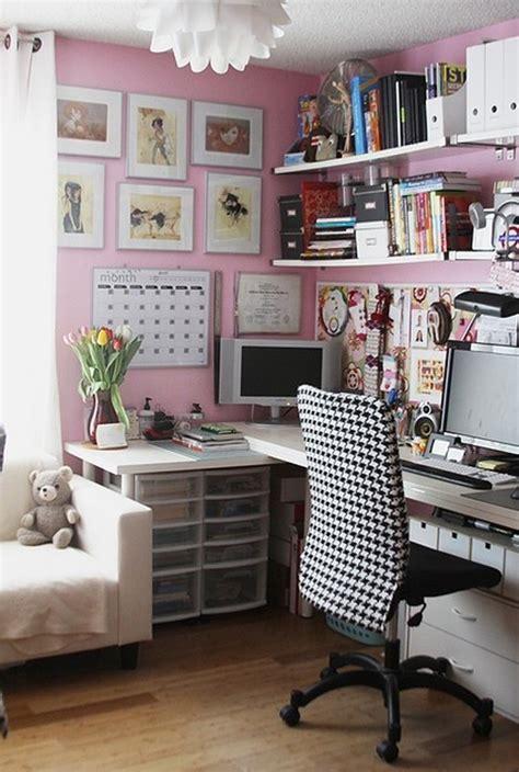 pink office decor  girl homemydesign