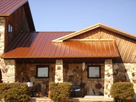 copper colored metal roof for the home copper 5446 home updates