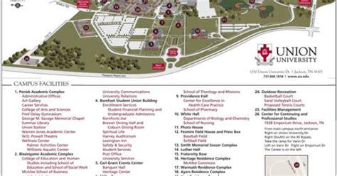 union university jackson tn  campus map visit