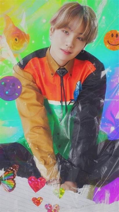 Yoongi Rainbow Aesthetic Bts