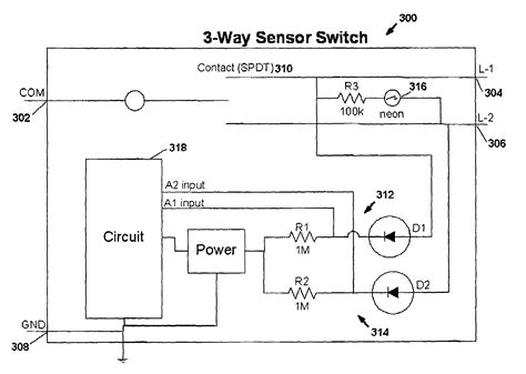 Patent Motion Sensor Switch For Way Light