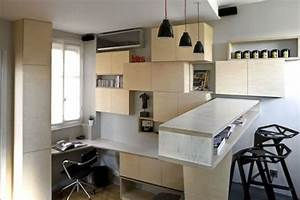 Smart Montparnasse : a 130 square foot apartment with very creative storage solutions ~ Gottalentnigeria.com Avis de Voitures