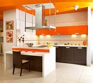 Vibrant Orange Kitchen Decorating Ideas - Interior design