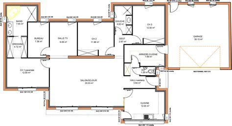 plan maison 5 chambres plain pied plan maison moderne plain pied 5 chambres