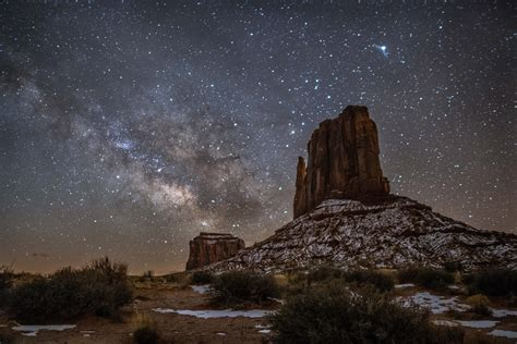 monument valley night sky landscape  nature