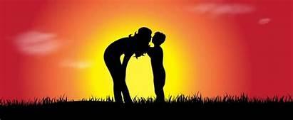 Figlio Madre Bacio Baci Mamma Figli Bambino