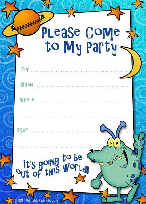 boys Printable Party Kits