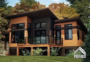 pro fab constructeur de maisons modulaires usinees With plan de maison a etage 12 realisations maisons maison laprise maisons pre usinees