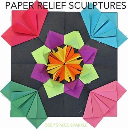 Relief Sculptures Paper Origami Sculpture Radial Projects
