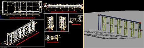 pipe rack details dwg detail  autocad designs cad