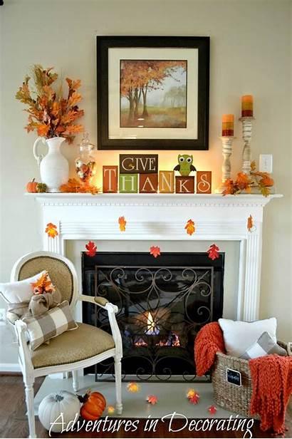 Fireplace Decor Autumn Natural Display Orange Designs