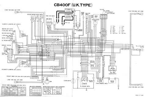 1975 cb400f wiring diagram auto electrical wiring diagram