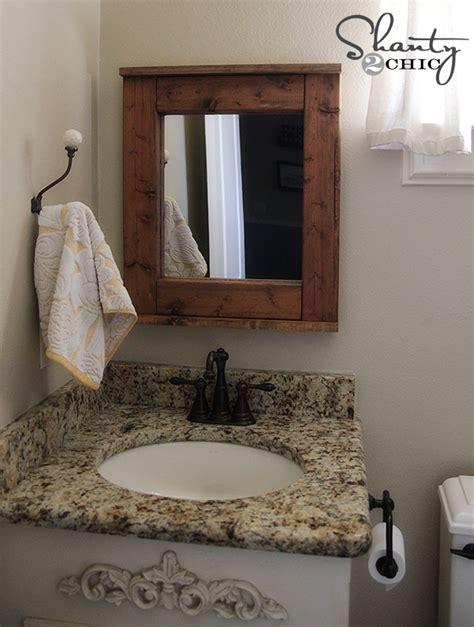 Diy Bathroom Mirror by Wood Mirror Diy Shanty 2 Chic